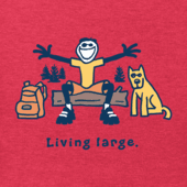 Men's Jake And Rocket Living Large Vintage Crusher Tee
