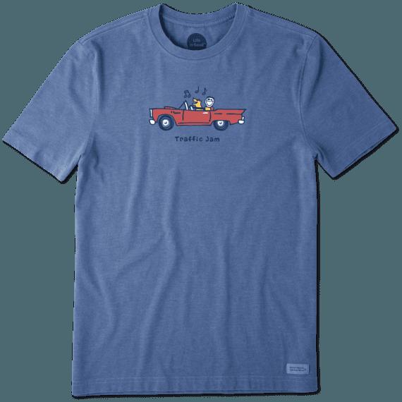 Men's Jake And Rocket Traffic Jam Vintage Crusher Tee