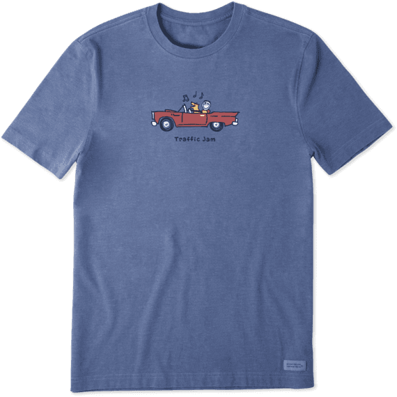 Men's Jake and Rocket Traffic Jam Vintage Crusher Tee