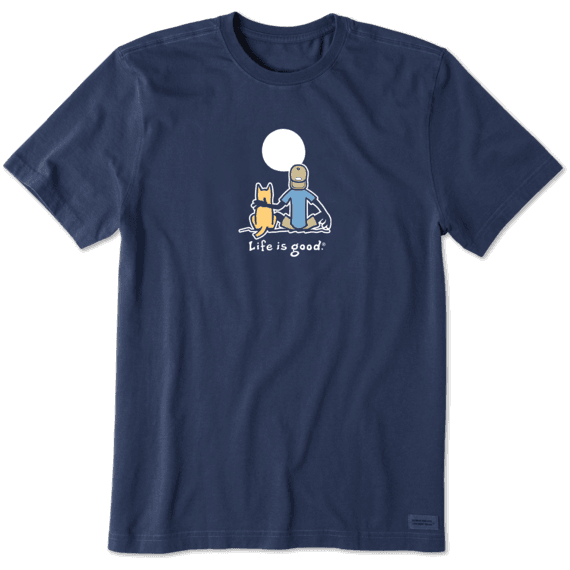 Men's Jake and Rocket Moon Vintage Crusher Tee