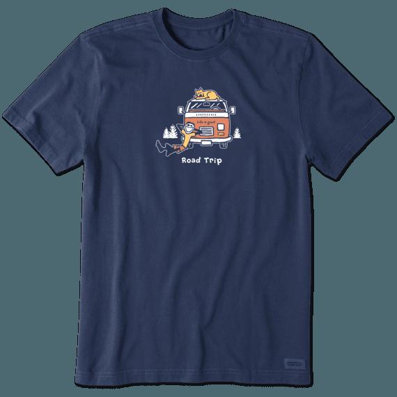 Men's Jake and Rocket Road Trip Vintage Crusher Tee