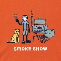 Mens Jake and Rocket Smoke Show Crusher Tee