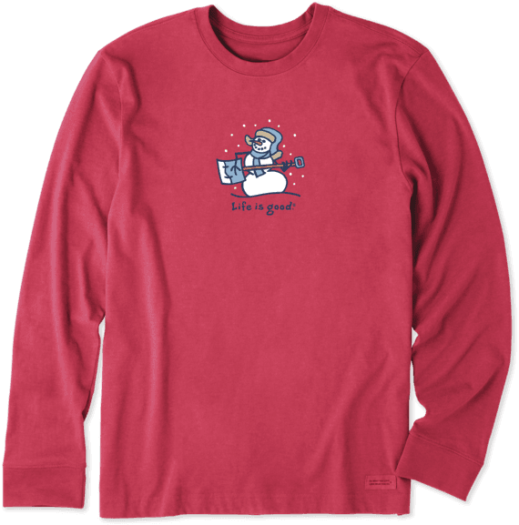 Men's Jammin' Snowman Long Sleeve Vintage Crusher Tee