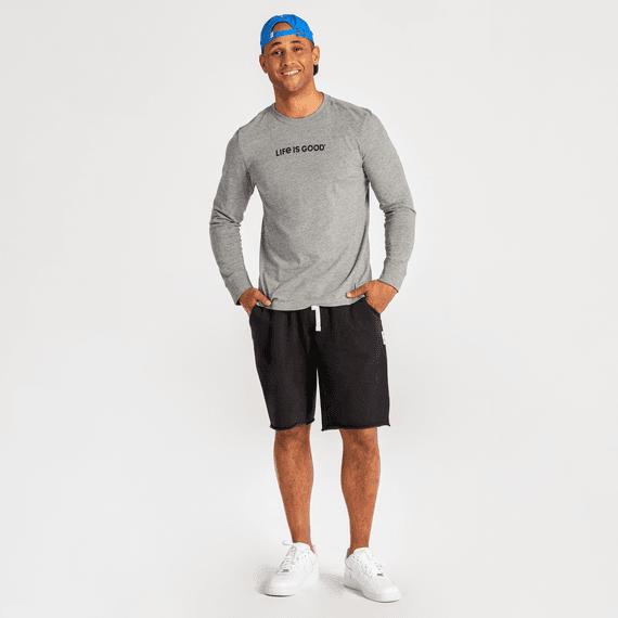Men's Jet Black Simply True Fleece Fleece Shorts