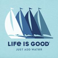 Men's Just Add Water Sailboats Crusher Tee