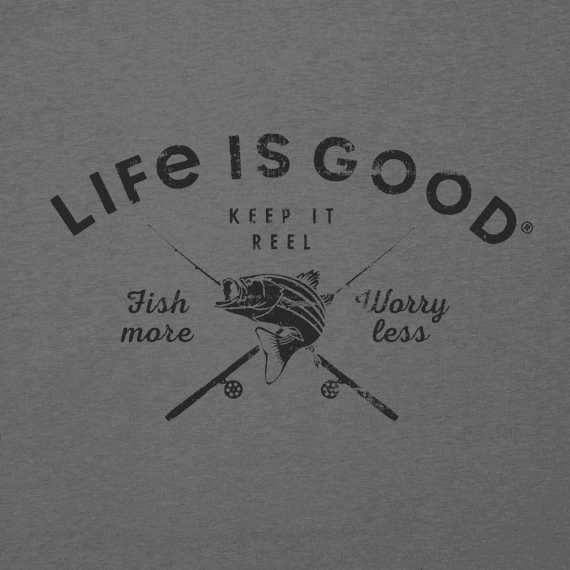 Men's Fish More Worry Less Cool Tee