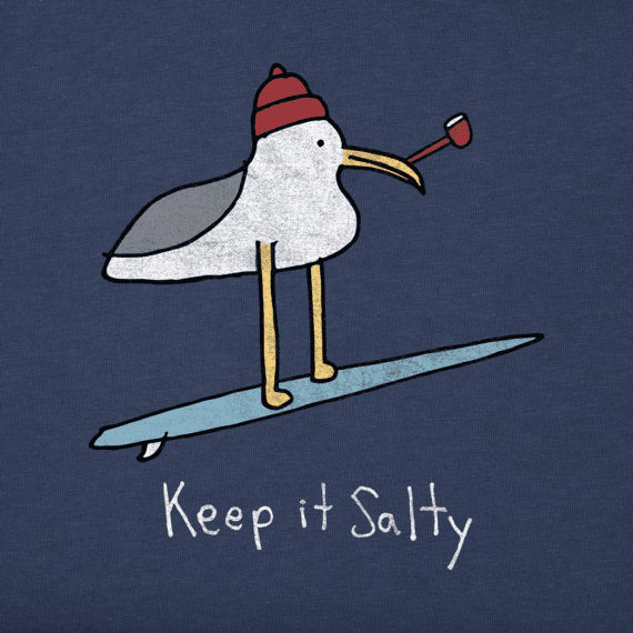 Men's Keep It Salty Seagull Crusher Tee
