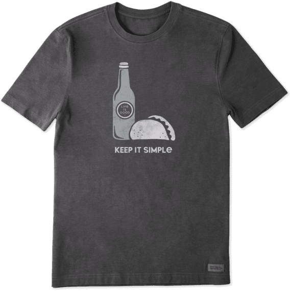 Men's Simple Taco Crusher Tee