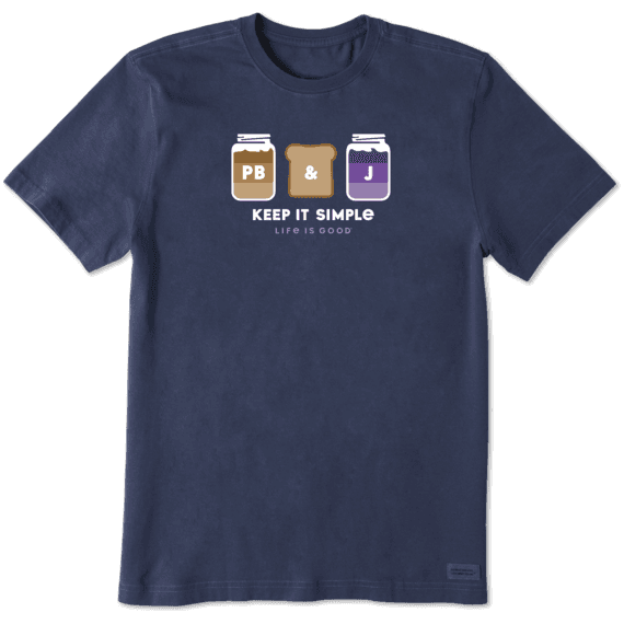 Men's Simple PB&J Crusher Tee