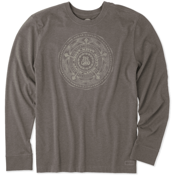 Men's Keys To Happiness Long Sleeve Crusher Tee