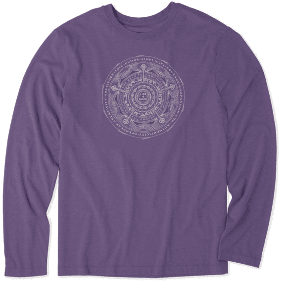 Men's Keys to Happiness Long Sleeve Cool Tee
