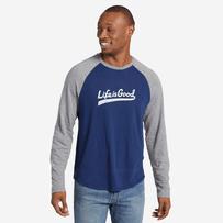 Men's LIG Ballyard Script Vintage Long Sleeve Baseball Tee