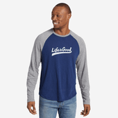Men's LIG Ballyard Script Vintage Long Sleeve Baseball Tee
