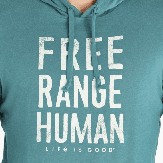 Men's LIG Free Range Human Long Sleeve Hooded Crusher