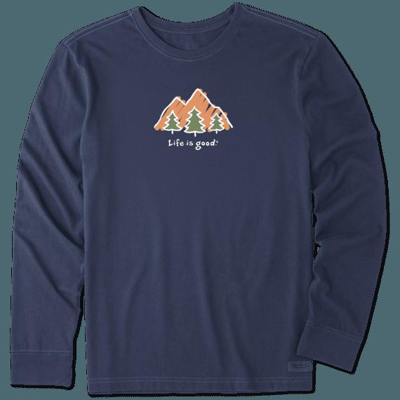 Men's LIG Mountains Long Sleeve Vintage Crusher Tee