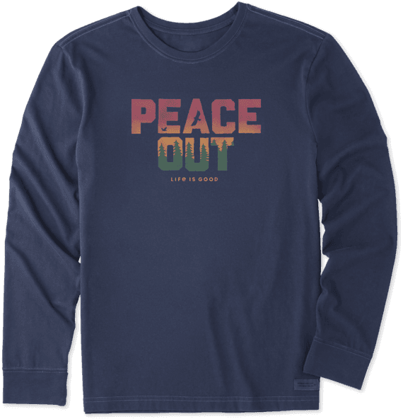 Men's LIG Peace Out Long Sleeve Crusher Tee