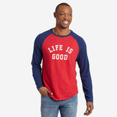 Men's LIG Sport Vintage Long Sleeve Baseball Tee