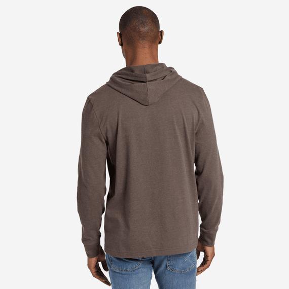 Men's LIG Stacked Hooded Long Sleeve Crusher Tee