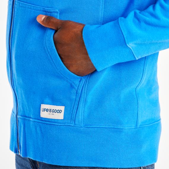 Men's LIG Stacked Simply True Zip Fleece Hoodie