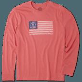 Men's LIG Stamp Flag Long Sleeve Crusher Tee