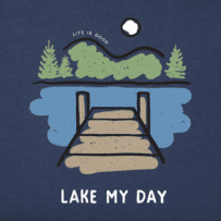 Men's Lake My Day Long Sleeve Crusher Tee