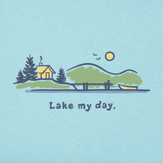 Men's Lake My Day Vintage Crusher Tee