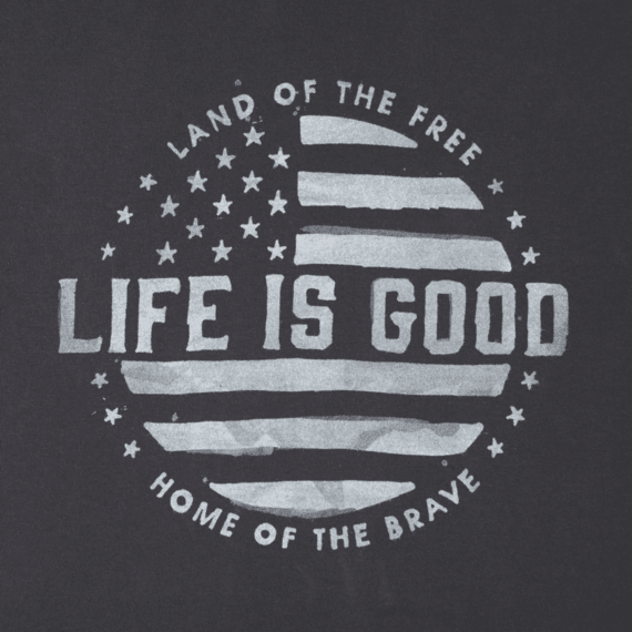 Men's Land Of The Free Long Sleeve Crusher Tee