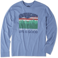 Men's Land That I Love Long Sleeve Crusher Tee