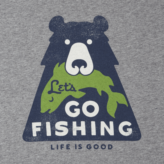 Men's Lets Go Fishing Bear Smooth Tee