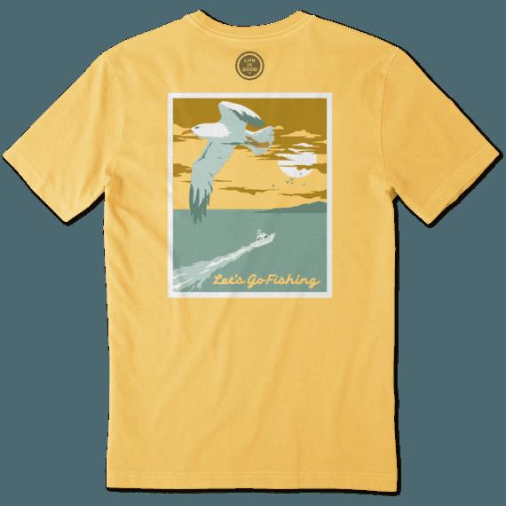 Men's Lets Go Fishing Crusher Tee