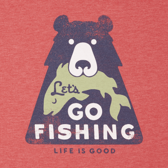 Men's Lets Go Fishing Long Sleeve Cool Tee
