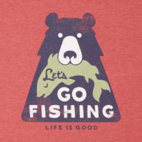 Men's Lets Go Fishing Long Sleeve Cool Tee