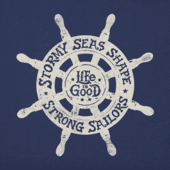 Men's LiG Ships Wheel Hooded Sweatshirt