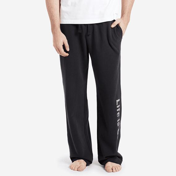 Men's Life Is Good Bold Fleece Lounge Pant