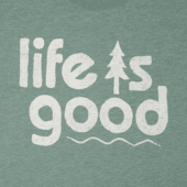 Men's Life Is Good Pine Long Sleeve Cool Tee