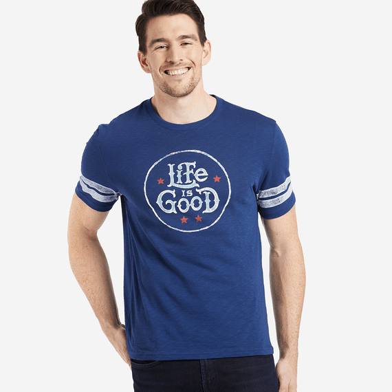 Men's Life Is Good Star Stamp Vintage Sport Tee