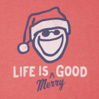 Men's Life Is Merry Good Long Sleeve Crusher Tee