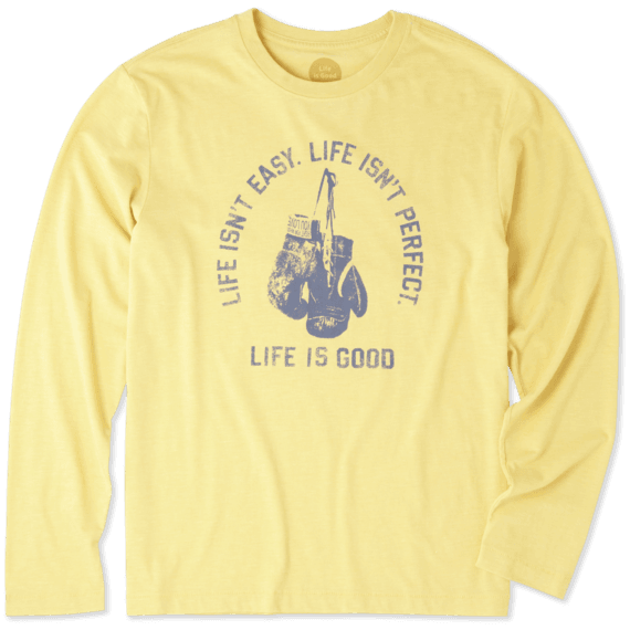 Men's Life Isn't Easy Fight Long Sleeve Cool Tee
