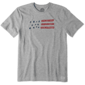 Men's Life Isn't Easy Flag Crusher Tee