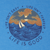 Men's Life Isn't Easy Ocean Cool Tee