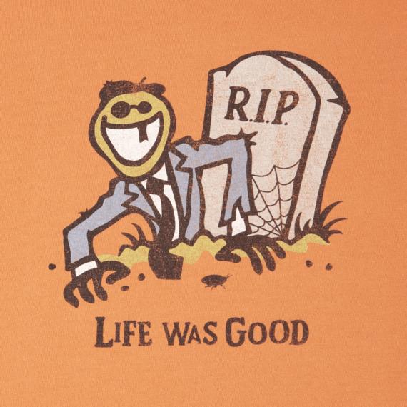 Men's Life Was Good Long Sleeve Crusher Tee