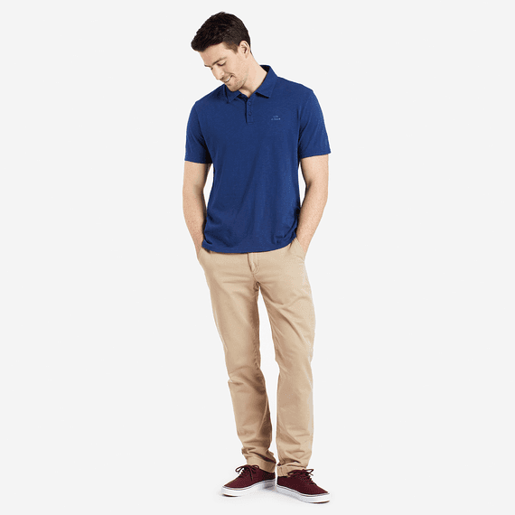 Men's Life is Good Polo Tee