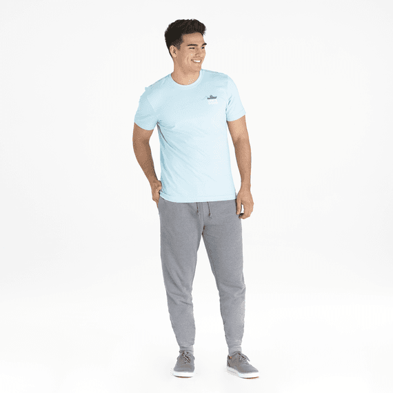 Men's Life is Good Simply True French Terry Jogger