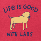 Men's Life is Good With Labs Crusher Tee