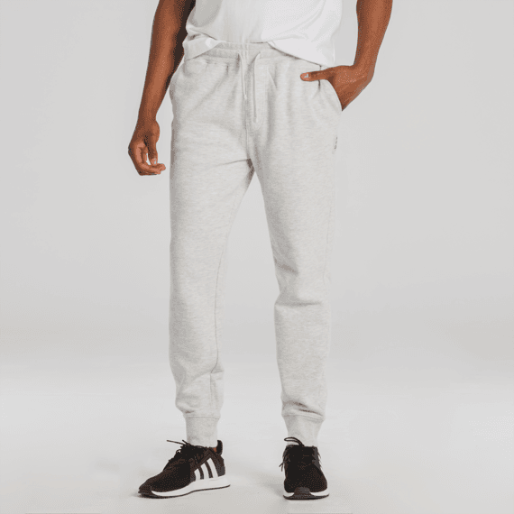 Men's Light Heather Gray Simply True Fleece Jogger
