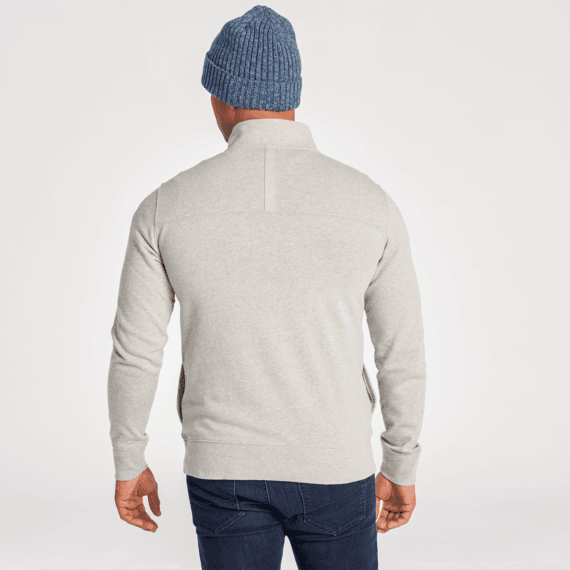 Men's Light Heather Gray Simply True French Terry Quarter Zip