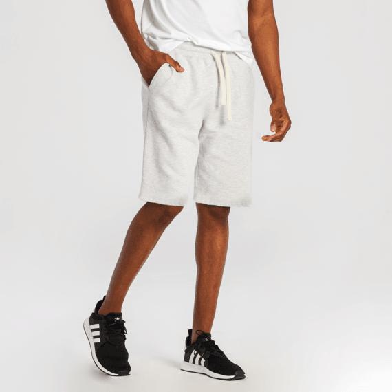 Men's Light Heather Gray Simply True Fleece Shorts