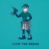 Men's Livin' The Dream Crusher Tee