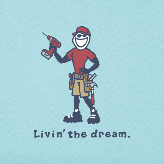 Men's Livin' the Dream Vintage Crusher Tee