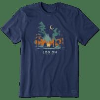 Men's Log On Campfire Crusher Tee
